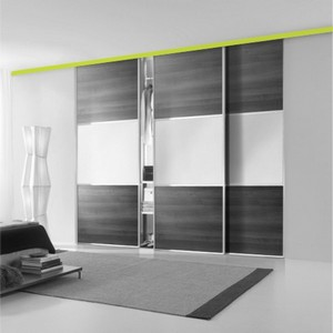 Sliding systems for wardrobes and cabins