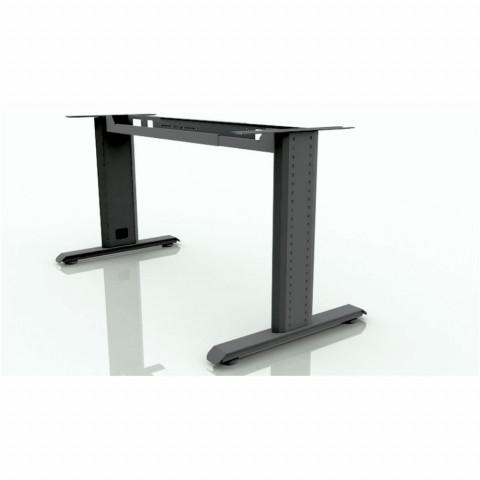 Noga za kancelarijski sto asimetrična +vezna greda 1.2-1.8m siva