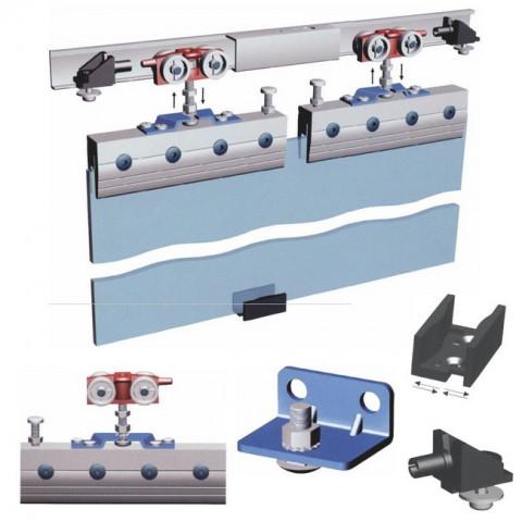 Klizni mehanizam SCK-80 za 1 staklena vrata