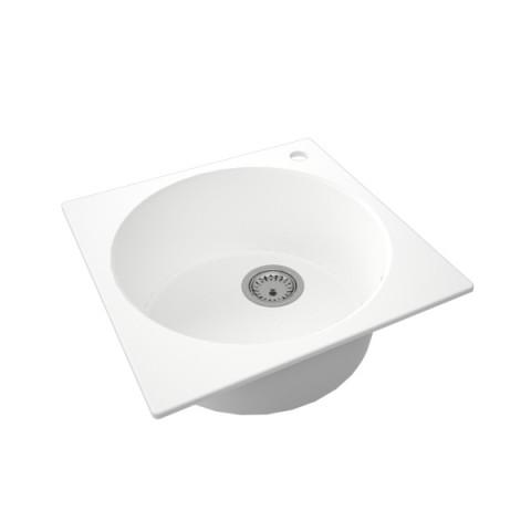 Granitna sudopera FRESCO 480x480 1k - Bela
