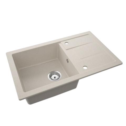 Granitna sudopera QUADRATO 780x480 1ko - Bež