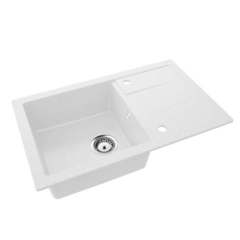 Granitna sudopera QUADRATO 780x480 1ko - Bela