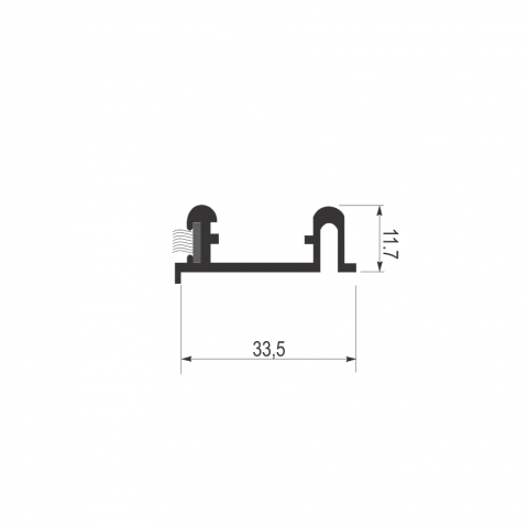 Alu.šina AL01-1 (4m)