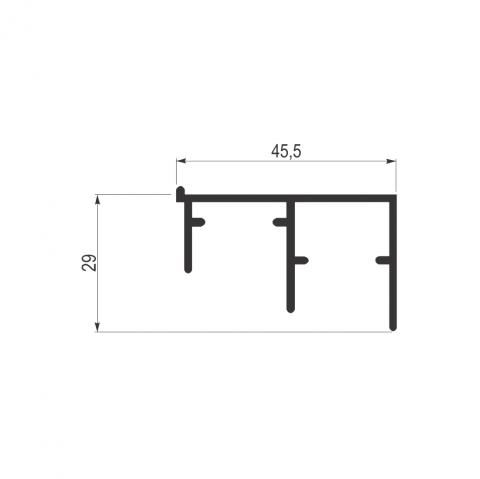 Alu.šina AL01-2 (4m)