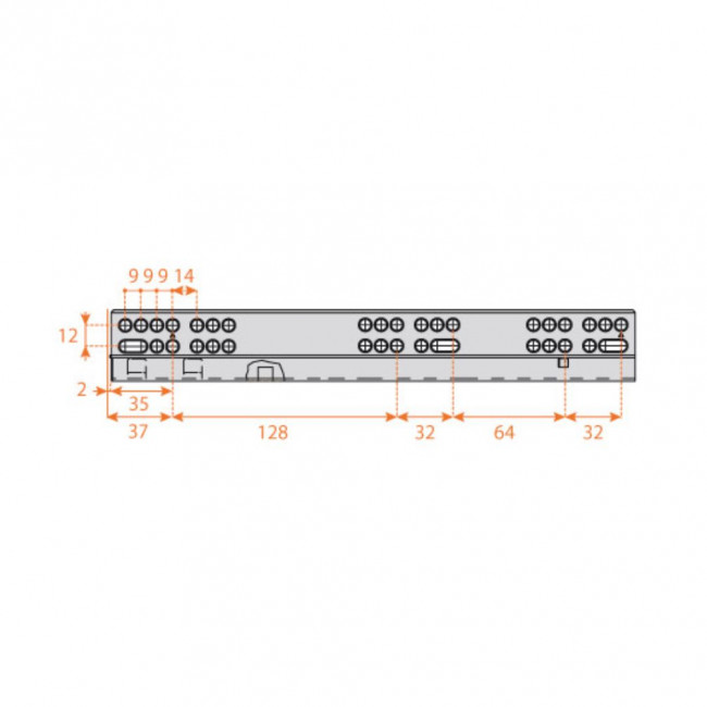 Klizač Salice Futura 6127/45cm (DI) push - SALICE klizači - Klizači za namešt...