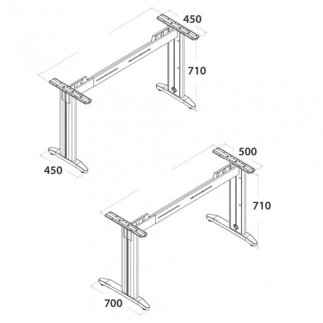 Vezne plo e za kancelarijiski sto aluminijum noge za for Table za stolove