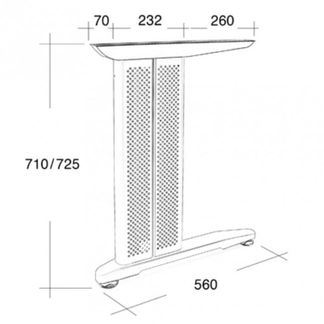 Noga decentralna za ugaoni kancelarijski sto noge za for Table za stolove