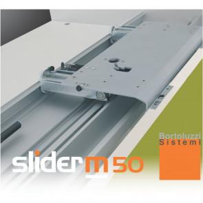 Klizni mehanizam COPLANAR M50 - 2 vrata 2600-2800 mm